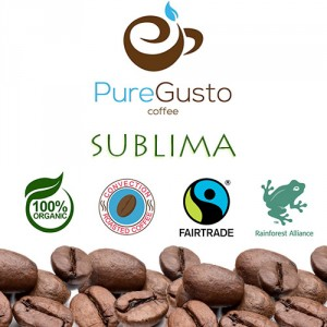 PureGusto SUBLIMA Triple Certified Coffee Beans 6KG